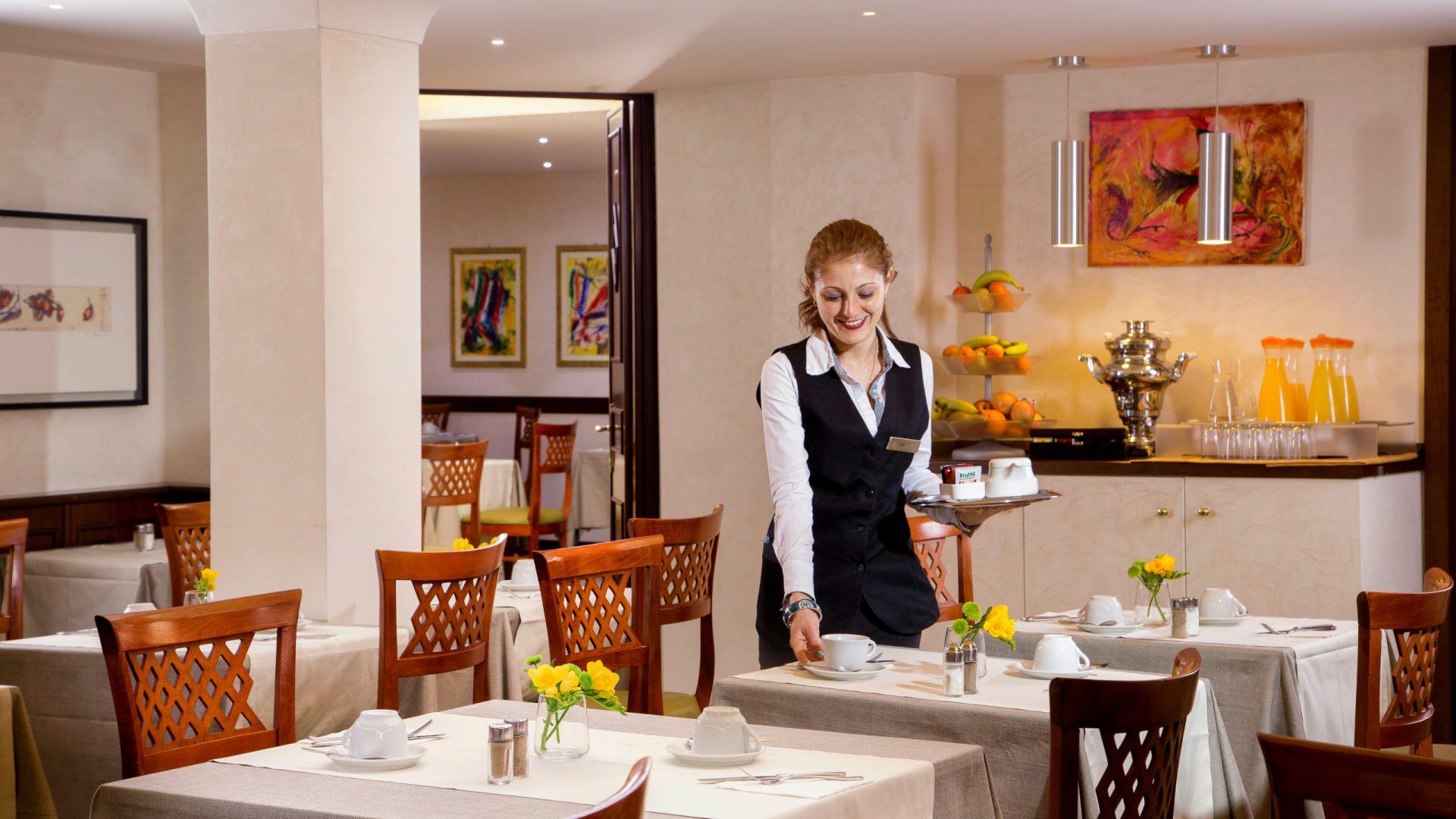 フォトホテル - オックスフォード - ローマ - レストラン-15